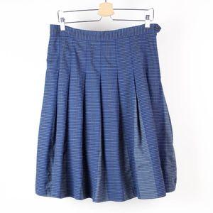 Pendleton Skirt Pleated 100% Wool Striped U4
